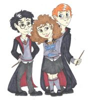 The Potter Trio by CaptainKPeanuts