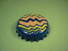 Blue, yellow, sand and black badge. by elniniodelaschapas