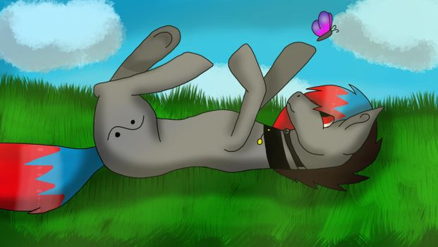 Resting on a meadow by Qp007