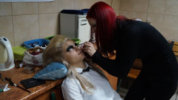 helloween make up process by ginger-muffin