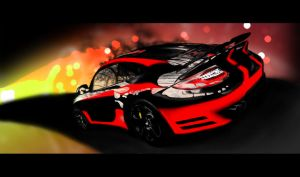 Porsche Photoshop Painting by PolizziGraphics