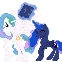 Princess Luna and Princess Celestia : We Love by Ritya9898