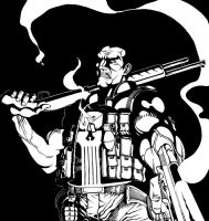the Punisher by the-real-ronin-X