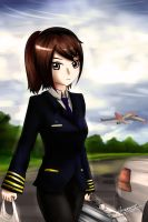 Arisa as Commercial Pilot by Anomonny