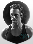 Eric Northman monochrome by Erilain