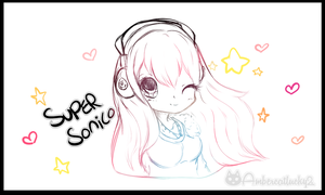 Super Sonico  by Ambercatlucky2