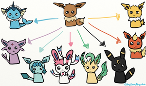 Eeveelutions by AmyLovesPenguins