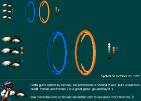Portal Gun Sprites by Novally