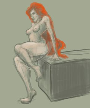 Poison Ivy-ish Quick Sketch by CharlotteHarlot