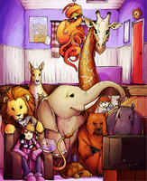 Animals in the Living Room by H0lyhandgrenade