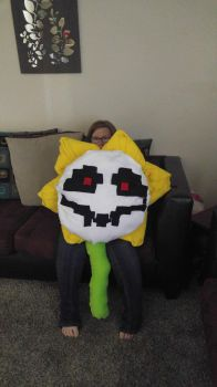 Giant flowey plush evil face by mycandylovefreak