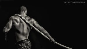 man with rope by kozyafffka
