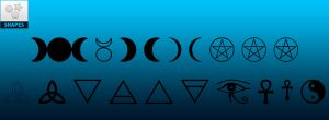 FREE | Wiccan and Positive Photoshop Custom Shapes by AdaleighFaith