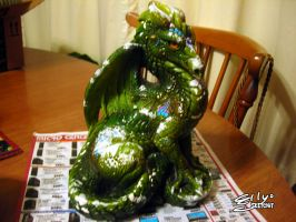 Windstone Green Dragon: Patching Him Up, 1 by ellysketchit