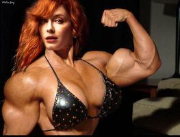 Christina Hendricks buff by CheeseDogX