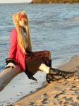 Fem England Pirate siting at the beach by karutohatake14
