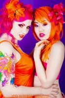Pink and Orange by looooo