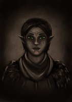 Speedpainting 02 Merrill DA2 by Aztarieth