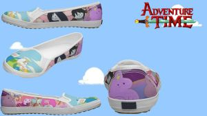 Adventure Time Shoes by xXangelbiteXx