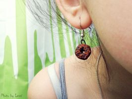 clay Donut Earrings by 97lessi