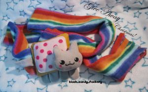 Nyan cat scarf by gothic-yuna