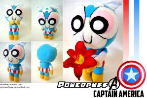 Powerpuff Avengers: Captain America Plushie by PrinceOfRage