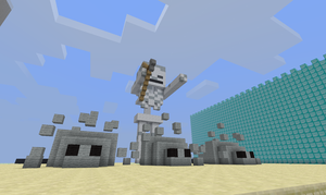 Minecraft: Skeleton and Silverfish by Gangor7