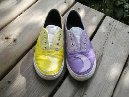 Prospit and Derse shoes by GriffinInk