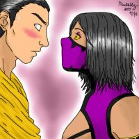 Scorpion x Mileena by ninetailz3000