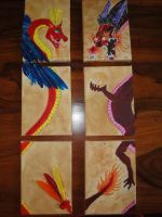 Dragons canvas by apple-kitty