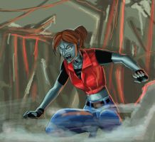 Vampire Claire Redfield by Jokerisdaking