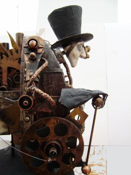 steampunk cyborg view 4 by impsandthings