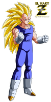 Vegeta Super Saiyan 3 by el-maky-z