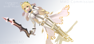 Saber Bride MMD by chatterHEAD
