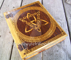 Large Celtic Triquetra Book of Shadows Grimoire by WOODEWYTCH