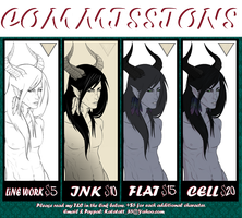 Commission Info Sheet by KATATATT