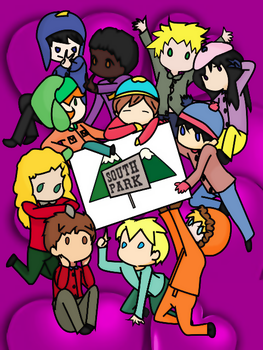 South Park Chibis Sign by FlyingPrincess