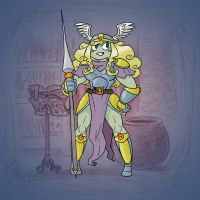 Angela's Magic Lesson - Mighty Valkyrie by Mr-DNA