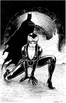 Catwoman Batman Inks by RNABrandEnt