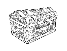 Hermione's Trunk by Writer-Colorer