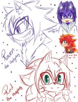 My sonic chara's by XXXXwitlee