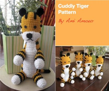 Cuddly Tiger pattern - Hobbes by Ami-Amour