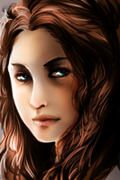 Padme rough painting by Maxxie-Delu