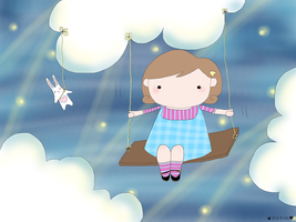 Daydreaming is like swinging among the stars by valefatina
