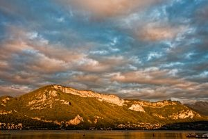 Mont Veyrier at sunset by arnaudperret