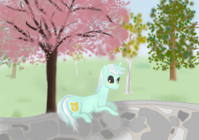 Lyra in the Park by InkBlu