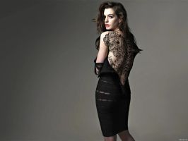 anne hathaway by makalulo
