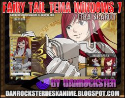 Erza Scarlet Theme Windows 7 by Danrockster