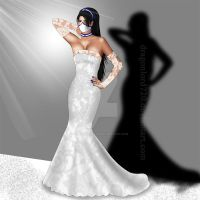 Kitana in wedding dress by DragonLord720