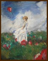 Girl With a Red Baloon by MostUnstableOne